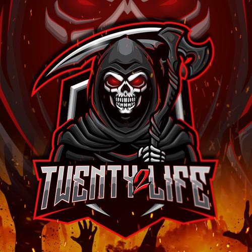 Horror design with the title 'Twenty 2 Life'