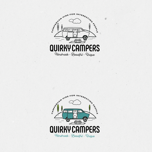 Handmade design with the title 'logo for campers'