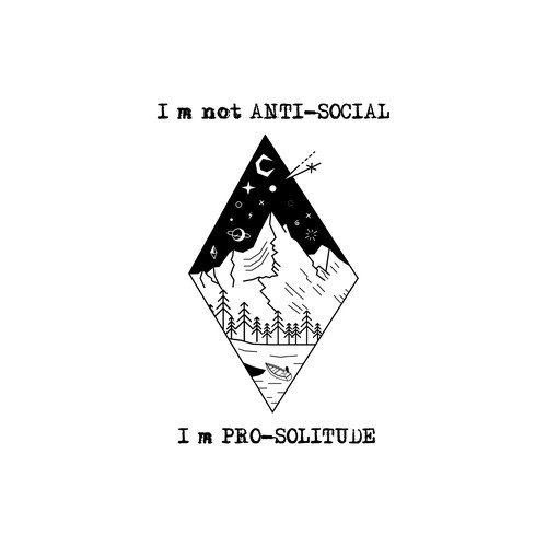 Mountain t-shirt with the title 'Pro Solicitude (FINALIST)'