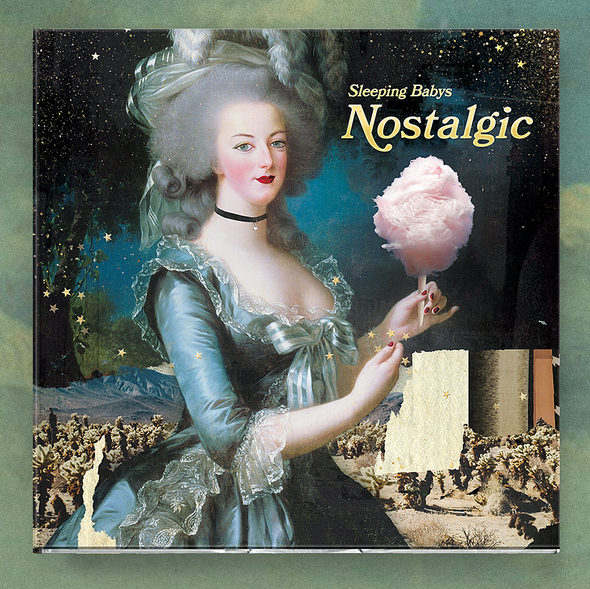 Collage artwork with the title 'Nostalgic'