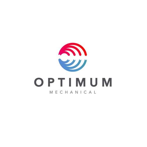 Refrigeration logo with the title '«Optimum Mechanical» logo'