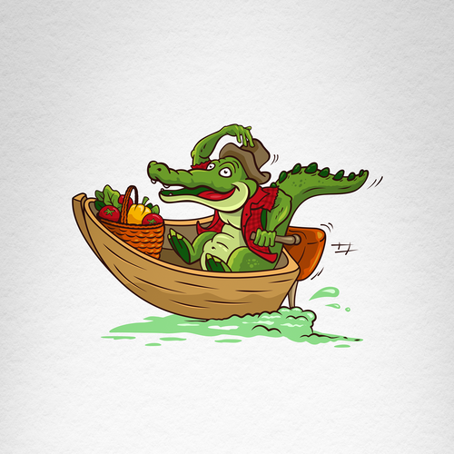 Alligator design with the title 'Bayou'