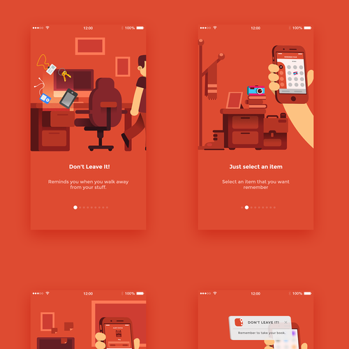 Simple artwork with the title 'App tutorial'
