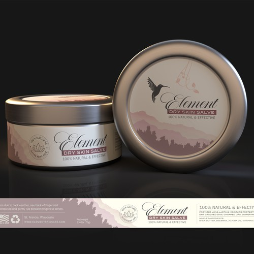 Jar packaging with the title 'Element'