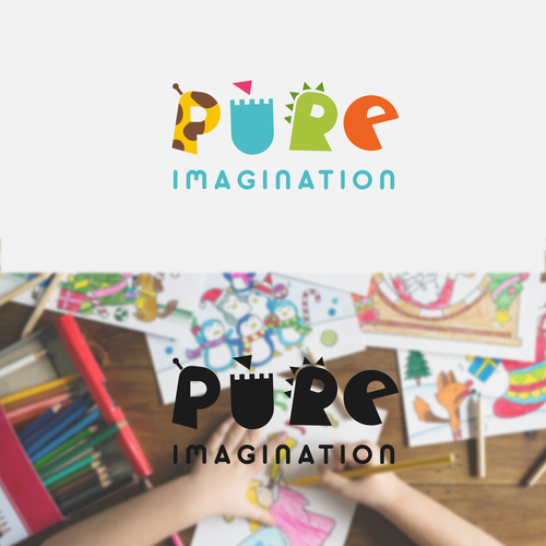Kid logo with the title 'PURE'