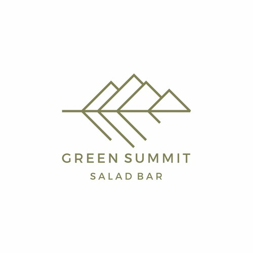 Modern logo with the title 'green summit'