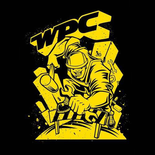Construction t-shirt with the title 'WPC running t-shirt'