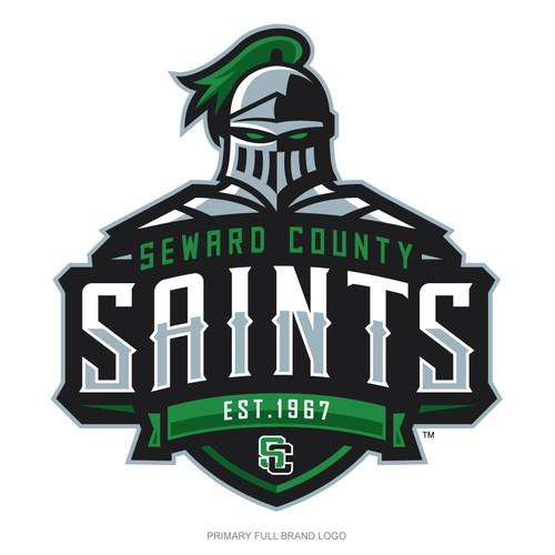 Castle logo with the title 'Seward County Saints'