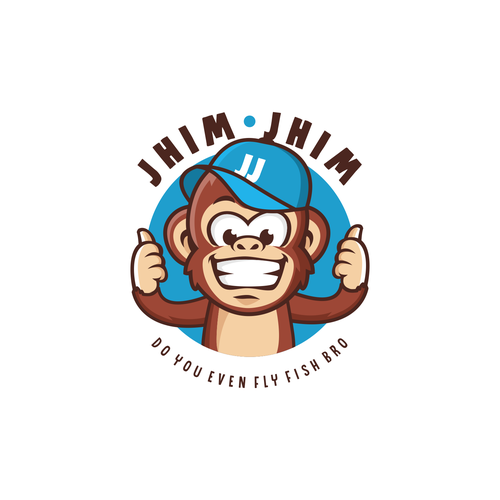 Monkey logo with the title 'Jhim Jhim'