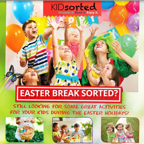Easter design with the title 'KIDsorted Easter Campaign Flyer'