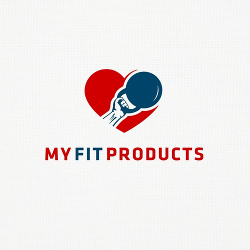 Muscle logo with the title 'GymHeart'