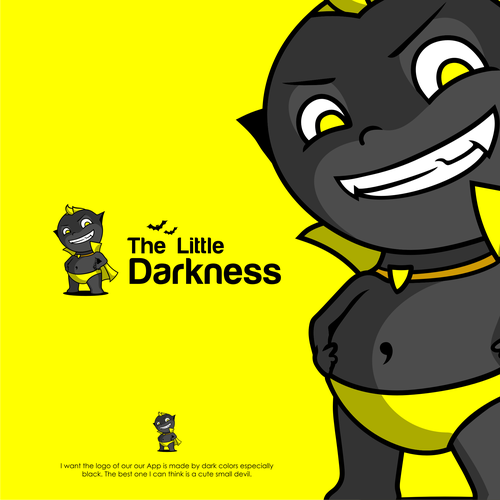 IPhone logo with the title 'Little Devil for The Little Darkness mascot contest'