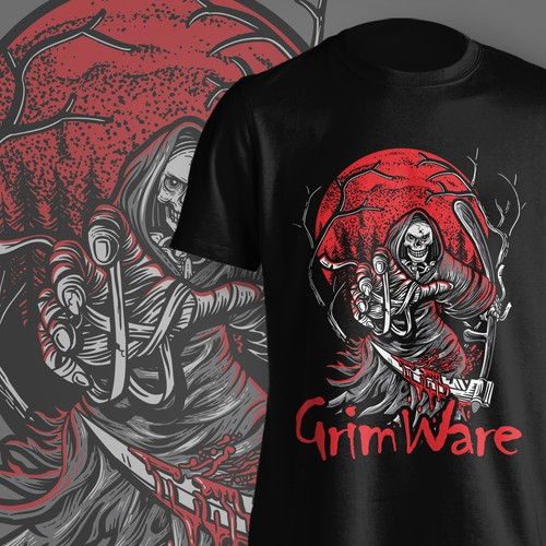 Reaper design with the title 'Tshirt GrimWare'