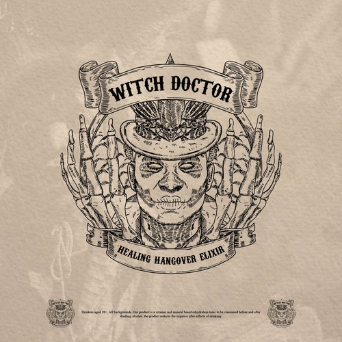 Witch logo with the title 'Witch Doctor'