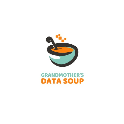 Bowl logo with the title 'Grandmother's Data Soup'
