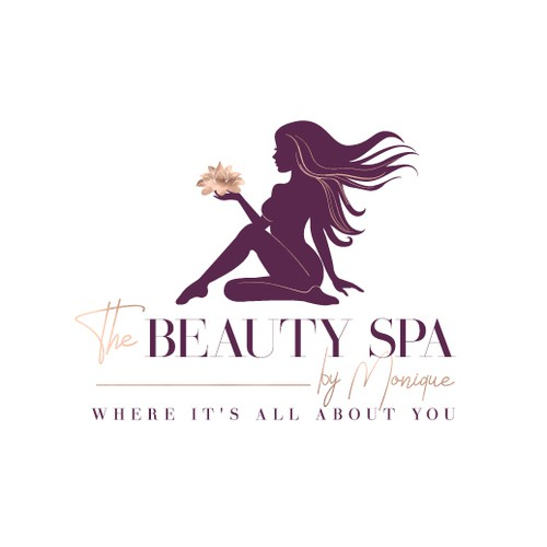 Woman design with the title 'Check out The Beauty SPA's new logo!'
