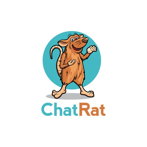 Rat logo with the title 'Logo for Chat Rat'