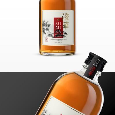 Japanese Whiskey Label.