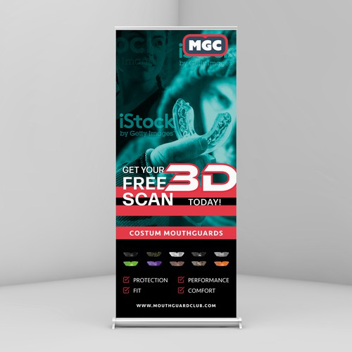 Rollup design with the title 'Roll up Banner'