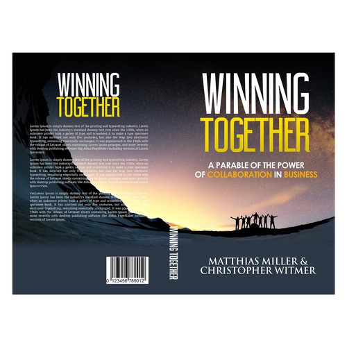 Together design with the title 'Winning Together'