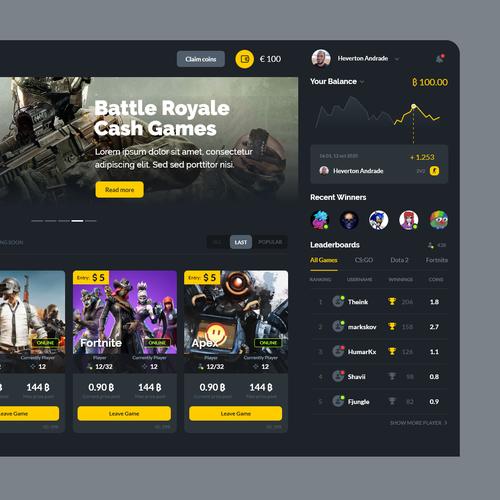 Application website with the title 'Battlewar'