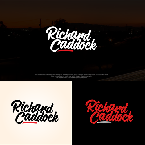 Artist logo with the title 'Richard Caddock music company logo'