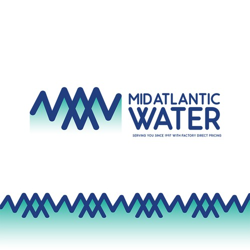 Atlantic design with the title 'MID ATLANTIC WATER'