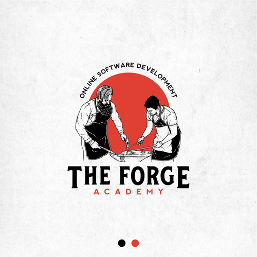 Human figure design with the title 'Logo concept for The Forge Academy'
