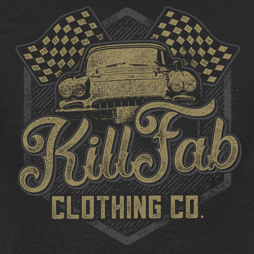Car t-shirt with the title 'KillFab Clothing Co. T-shirt'
