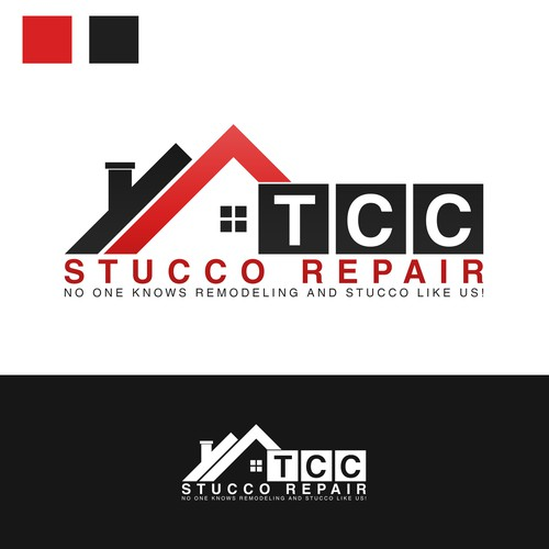 Remodeling design with the title 'TCC STUCCO REPAIR'