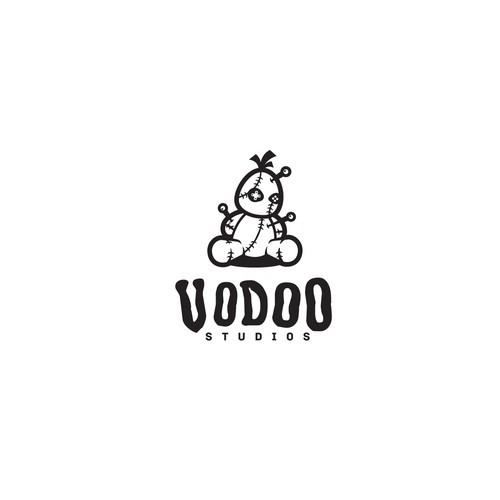 """Gaming logo with the title 'Logo design for """"Vodoo Studios""""'"""