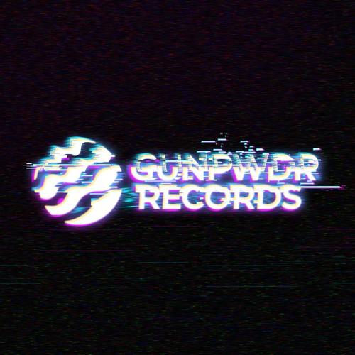 Glitch design with the title 'GUNPWDR RECORDS logo'