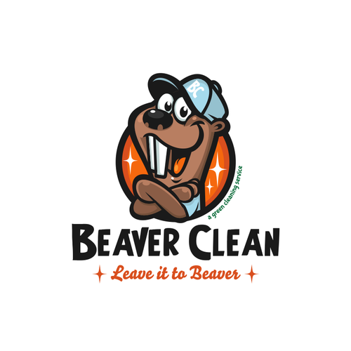 Service logo with the title 'Beaver Clean'