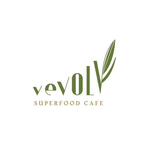 Vegan food logo with the title 'vevolv'
