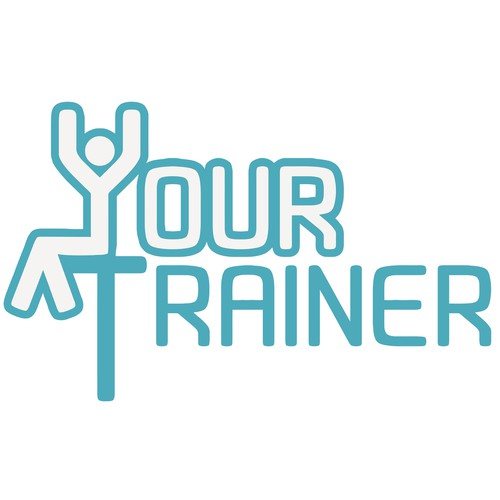 Sky blue logo with the title 'Logo for Fitness&Health application.'