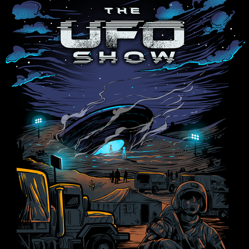 Community t-shirt with the title 'THE UFO SHOW'