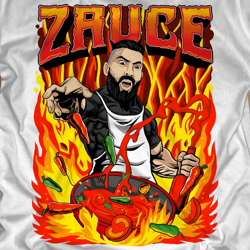 Awesome t-shirt with the title 'HOT ZAUCE! For A FIERY HOT Design'