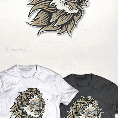 Half Siamese cat - half lion