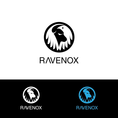 Ox design with the title 'Logo for ravenox'