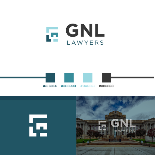 Court design with the title 'GNL lawyers'