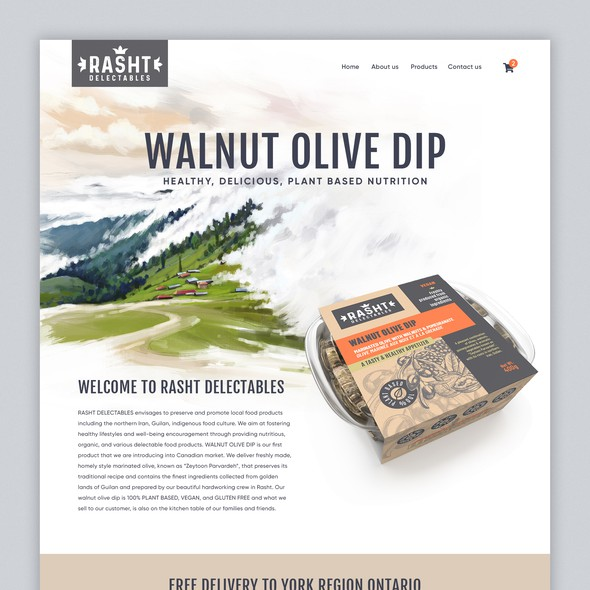 Food website with the title 'Website to Sell Natural Food products Online with Shopify'