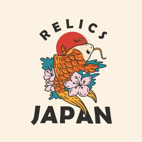 Hippie logo with the title 'Relics Japan'