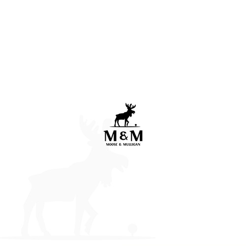 Moose design with the title 'Logo concept for golf brand'