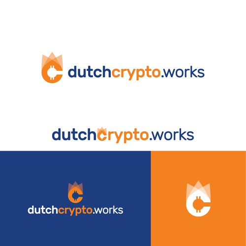 Crown brand with the title 'Dutch Crypto Works Logo Design'