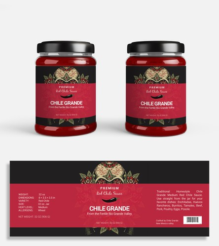 Food label with the title 'Branding | Product Label '