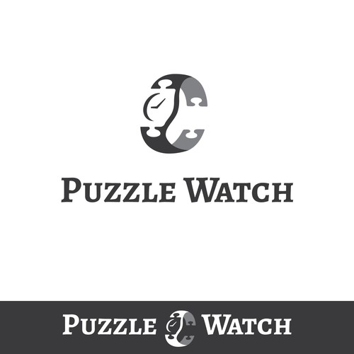 Puzzle piece logo with the title 'Logo design contest entry'