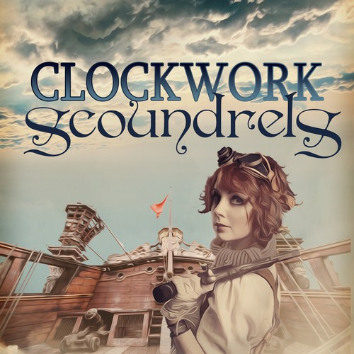 Steampunk book cover with the title 'Steampunk novella'