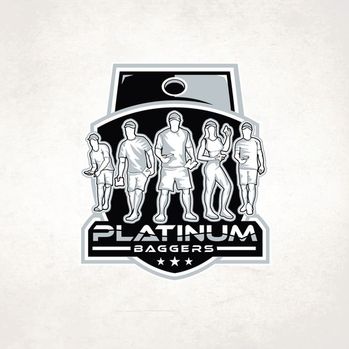 Silhouette logo with the title 'Platinum Baggers'
