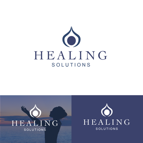 Calming design with the title 'Simple Logo concept for Healing Solutions'