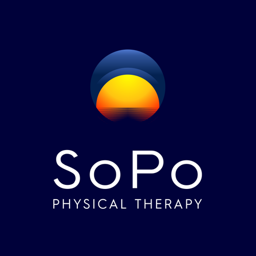 Sunrise design with the title 'SoPo Physical Therapy'